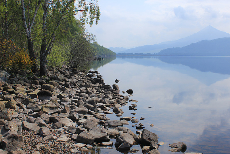 Loch Rannoch on a beautiful still morning in May, 2012.
